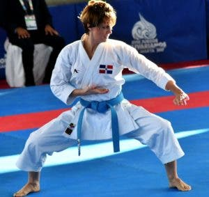 María Dimitrova en plena acción durante su competencia.