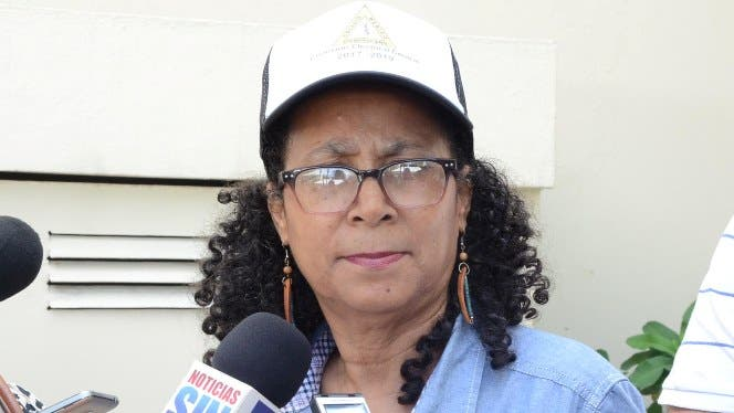 Darlin Olivo Plancencia,  presidenta de la Comisión Electoral  del Colegio Médico Dominicano. Foto: José de León.
