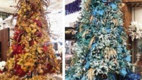 Algunas de las tendencias para decorar los árboles para esta Navidad.