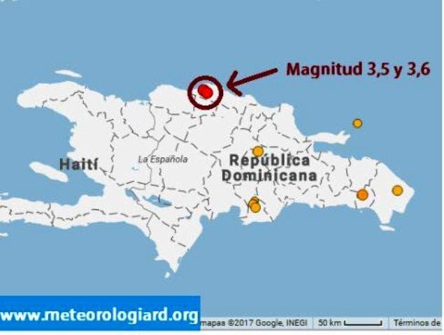 República Dominicana reporta al año entre 1,000 y 1,200 temblores de tierra