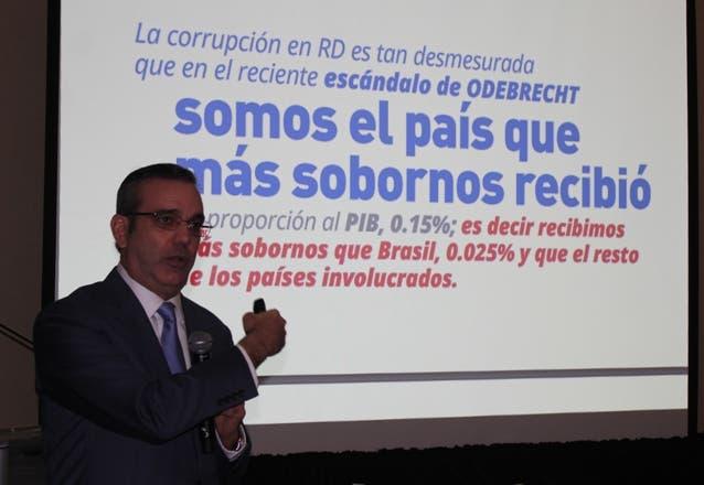 Luis Abinader presentó el plan ante directores de medios.