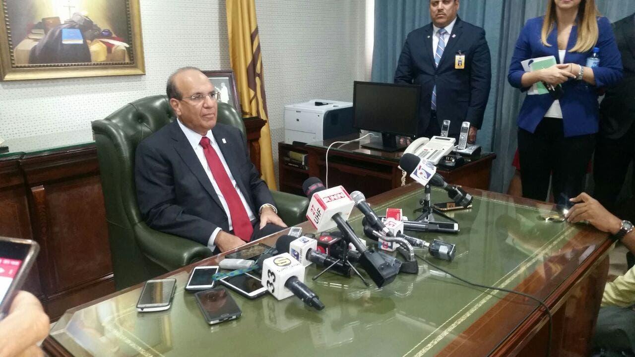 Castaños Guzmán, presidente de la JCE. Foto: Degnis De León.