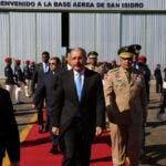 Danilo Medina partió a las 9:45 de la mañana, desde la Base Aérea de San Isidro.