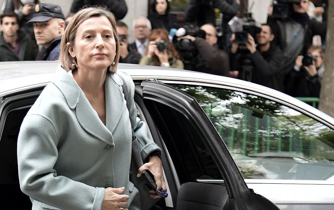 Carme Forcadell arrives at the Supreme. AFP