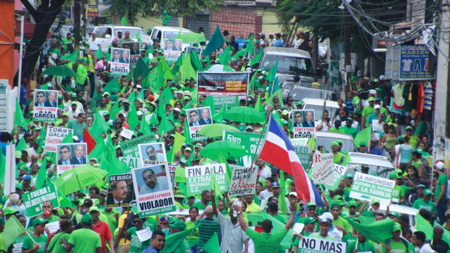 Marcha verde en San Cristóbal. Fotos: Elieser Tapia.