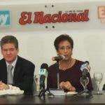Marcos Morales, Gina Gallardo, José Alfredo Corripio, Florinda Rojas, Juan Bolívar Díaz y Amarfi Peralta en el Almuerzo Semanal del Grupo de Comunicaciones Corripio.