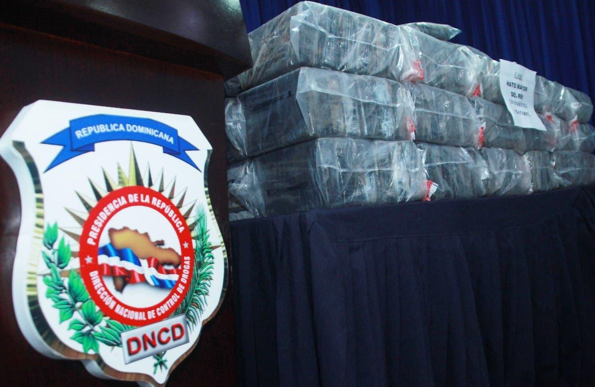 La DNCD no  precisó la cantidad ni el destino del cargamento.