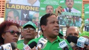Los representantes del movimiento verde visitaron el Congreso.