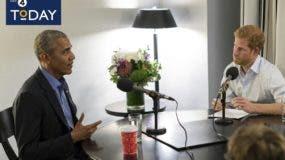 El príncipe Enrique departió de forma sosegada  sobre varios asuntos de interés con Barack Obama.
