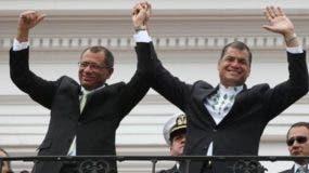 El expresidente Rafael Correa es un fuerte defensor de  Jorge Glas.