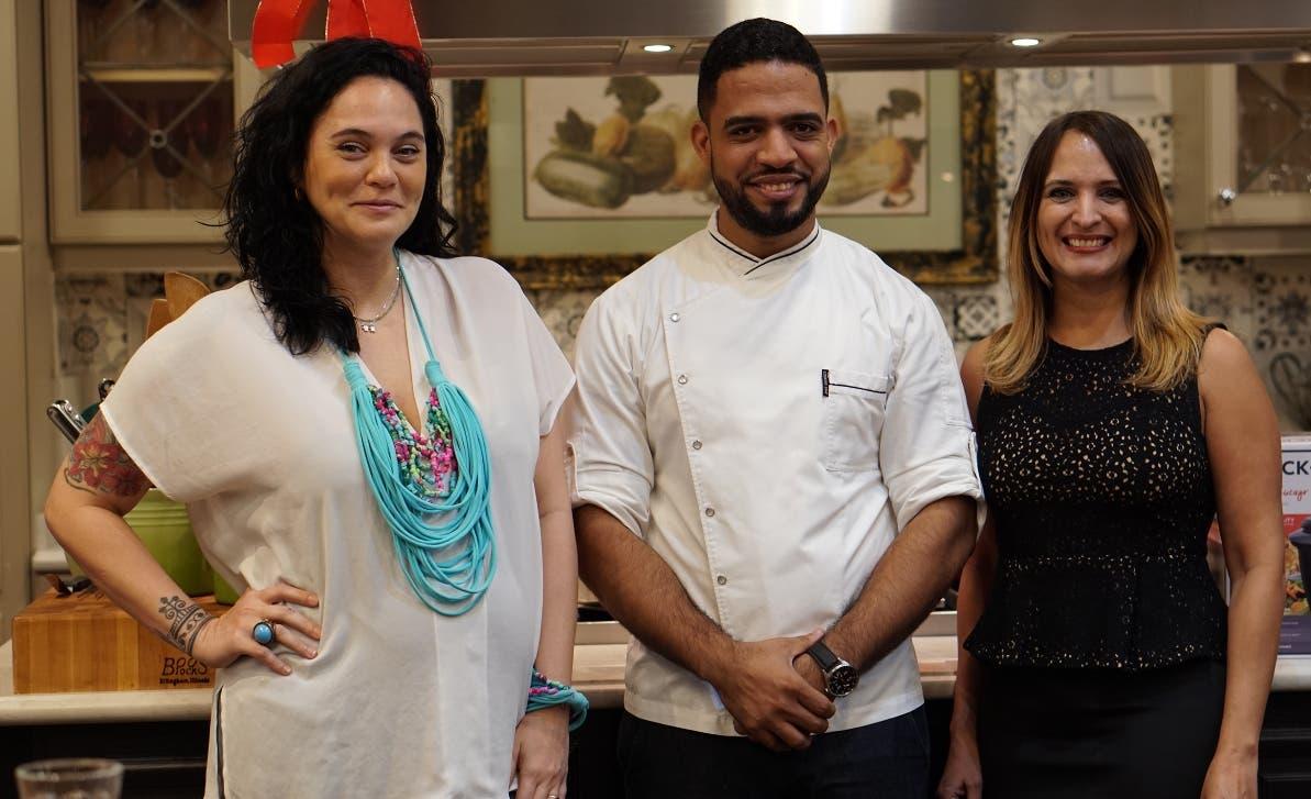 Ivonne Cuesta, Manuel Mendez (chef Manu) y Lynn Mejía.