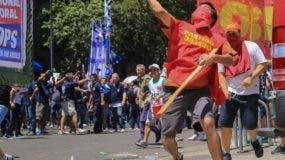 Los manifestantes buscan detener  una ley de jubilados.