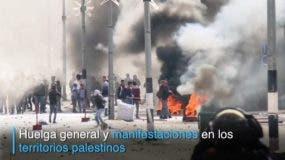 Soldados israelíes y manifestantes palestinos chocaron con virulencia en Hebrón, en el sur de Cisjordania, donde algunos colonos judíos viven bajo alta protección entre decenas de miles de palestinos.