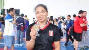 Thalia Mallqui, una de las peruanas ganadoras de medalla en los juegos Bolivarianos 2017.