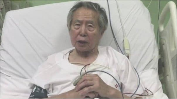 """Fujimori dice que si regresa a prisión su corazón """"no lo va a soportar»"""