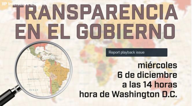 """Embajada de EE.UU realizará chat interactivo """"Transparencia en el Gobierno"""""""