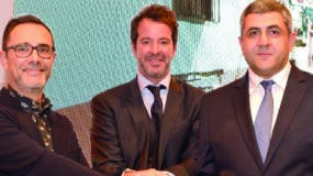 José María Barbat, Lisandro Menú y Zurab Pololikashvili.