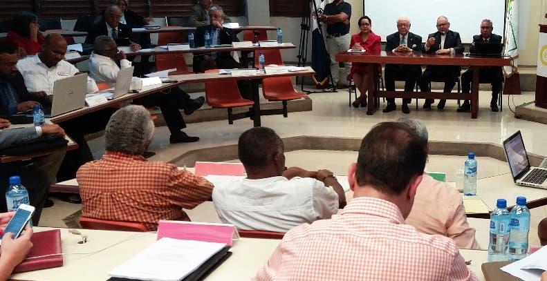 Miembros de la plenaria que discute el pacto eléctrico.