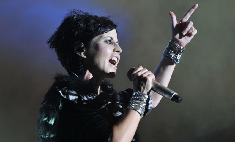 Dolores O'Riordan, líder de la banda irlandesa The Cranberries.