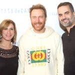 Francis Lora, David Guetta y Carlos Gravelef.