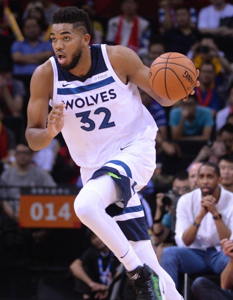 Karl Towns sigue coon su impresionante temporada en la NBA.