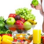 16336224 - young healthy woman with fruits