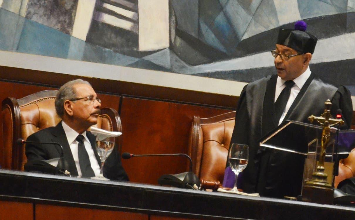La audiencia solemne por el Día del Poder Judicial fue celebrada en la Sala Augusta de la SCJ.