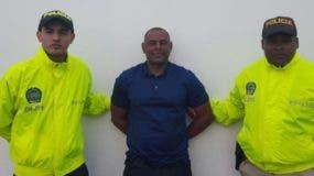 Matías Avelino Castro cuando fue detenido en Colombia por la muerte del periodista José Silvestre.