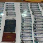 Agunos de los carnés y pasaportes incautados por Migración. Fuente externa