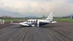 Vista de la avioneta usada para transportar las drogas.