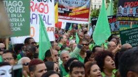 Marcha Verde realiza concentración frente al Palacio Nacional. Foto: José de León