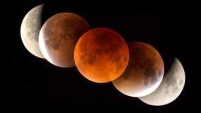 La Luna aparecerá roja durante el eclipse cuando la luz del sol se filtre por la atmósfera terrestre.