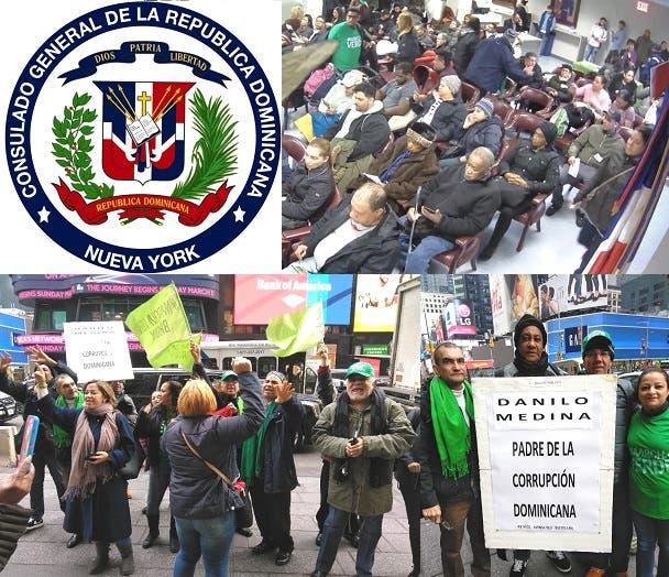 marcha-verde-protesta-frente-consulado-ny_-penetra-a-sede-irrumpe-labores