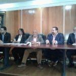 Máximo Castro Silverio, Ramón Rogelio Genao, junto a otros dirigentes reformistas.