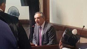 José Ramón Peralta declarando en el tribunal.