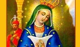 Imagen de la Virgen de la Altagracia.