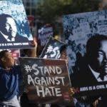 En otras ciudades de los Estados Unidos también fueron realizadas manifestaciones pacíficas por el Día de Martin Luther King., Texas fue una de ellas. AP