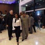 La delegación del gobierno venezolano al momento de arribar al Centro de Convenciones de la Cancillería  para asistir a la reunión.