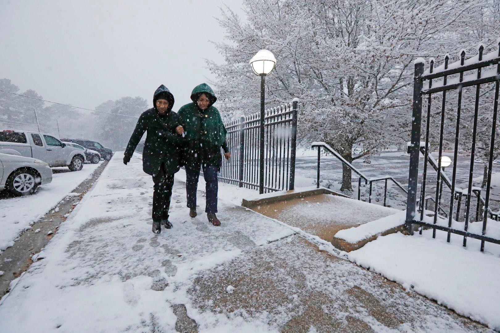 Se pronostican nevadas y heladas en sur de EE.UU