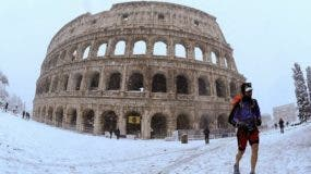 Hacía seis años que no nevaba en Roma, una ciudad que no está preparada para tan bajas temperaturas.