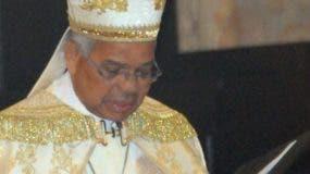 Monseñor Ozoria ofició tedéum en la catedral.  nicolás monegro.