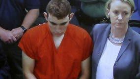 Nikolas Cruz en la audiencia que le dictaron prisión.  AP