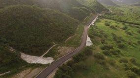 vista panorámica de la vía entregada ayer por el presidente Danilo Medina. fuente externa.