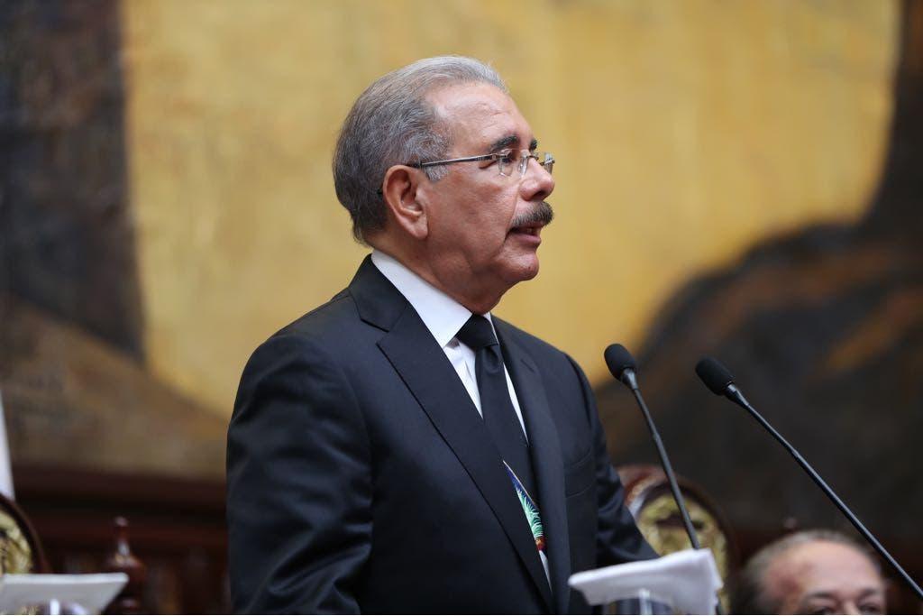 Danilo Medina ante la Asamblea Nacional este 27 de febrero, Día de la Independencia Nacional.