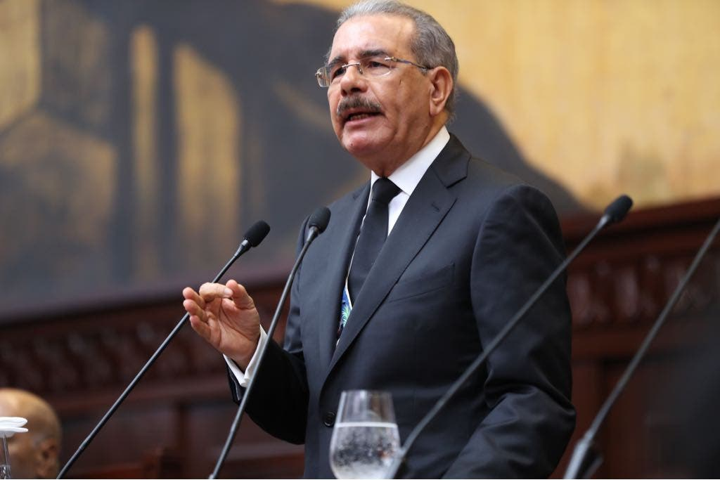 Presidente Danilo Medina durante la rendición de cuentas ante la Asamblea Nacional al conmemorarse hoy el día de la Independencia.