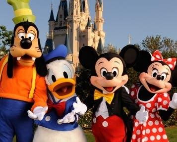 Algunos de los personajes más famosos de Disney.