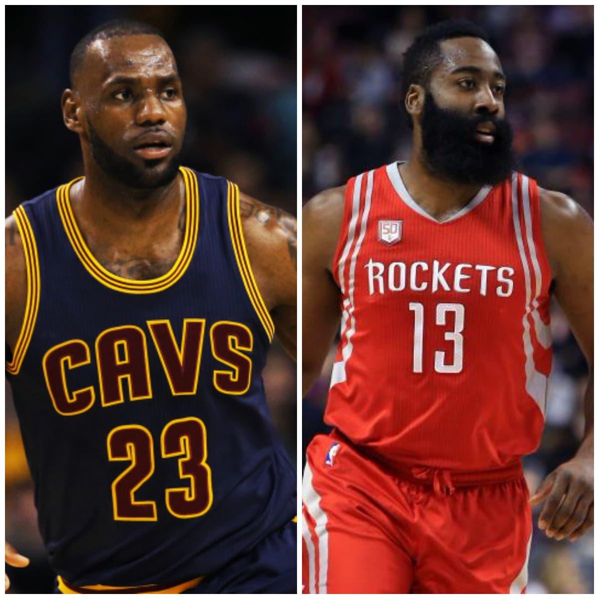 LeBron y Harden siguen dando cátedra en la NBA