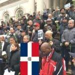 taxistas-dominicanos-ny-realizan-vigilia-frente-alcaldia