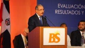 El presidente Danilo Medina resaltó el trabajo realizado en Banca Solidaria..