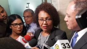 Fiscal Beatriz Rosario junto al procurador Domingo Cabrera.